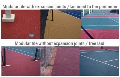 Modular Tile with Expansion Joint