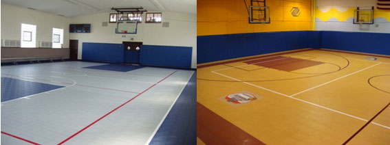Gymnasium Court Flooring MultiPurpose Modular Athletic Floor Tile - How much does a gym floor cost