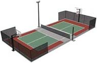 Multi-Purpose Tennis Court Flooring