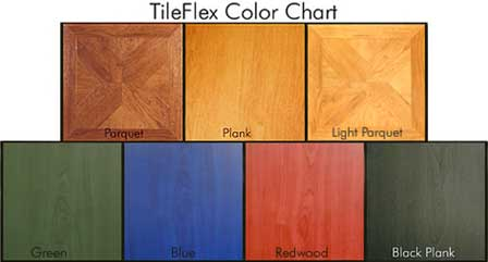 Wood Tile Flooring Color Chart